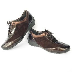 Mephisto City Sport Leccia Brown Wedged Sneakers 9